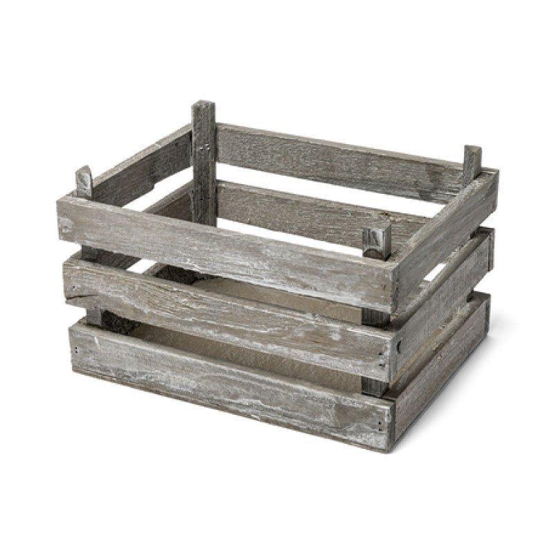 Cagette en bois cérusé
