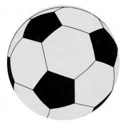 Confetti ballon de foot ronds noir et blanc (x50)