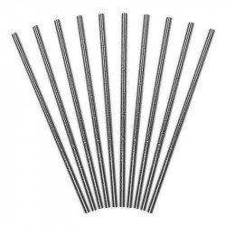 Pailles métallisées (x10)