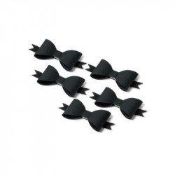 Noeuds papillon adhésifs noirs (x5)