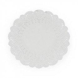 Napperons papier dentelle blancs (x6)