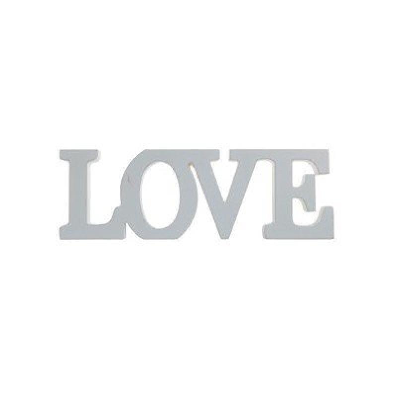 Lettres LOVE couleur grise