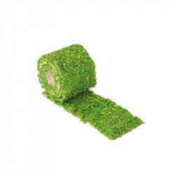 Chemin de table végétal en mousse naturelle - longueur 2 mètres - largeur 10 cm