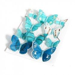 Papillons dégradés (x10) - Bleu