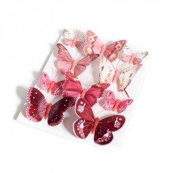 Papillons dégradés (x10) - Framboise