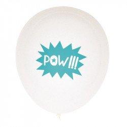 Ballons Super héros POW (x5)