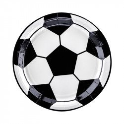 Assiettes Ballon de foot (x6)