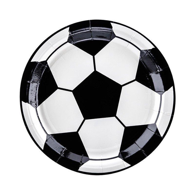 Assiette ballon de foot (x6)