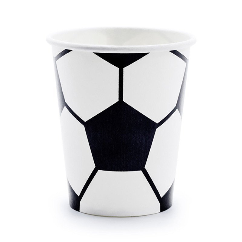 Gobelet foot noir et blanc (x6)