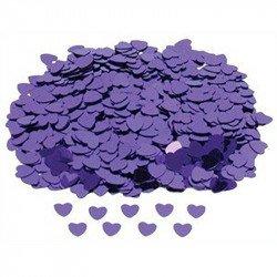Confettis petits coeurs - Violet