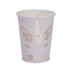 Gobelets Licorne dorée (x8)
