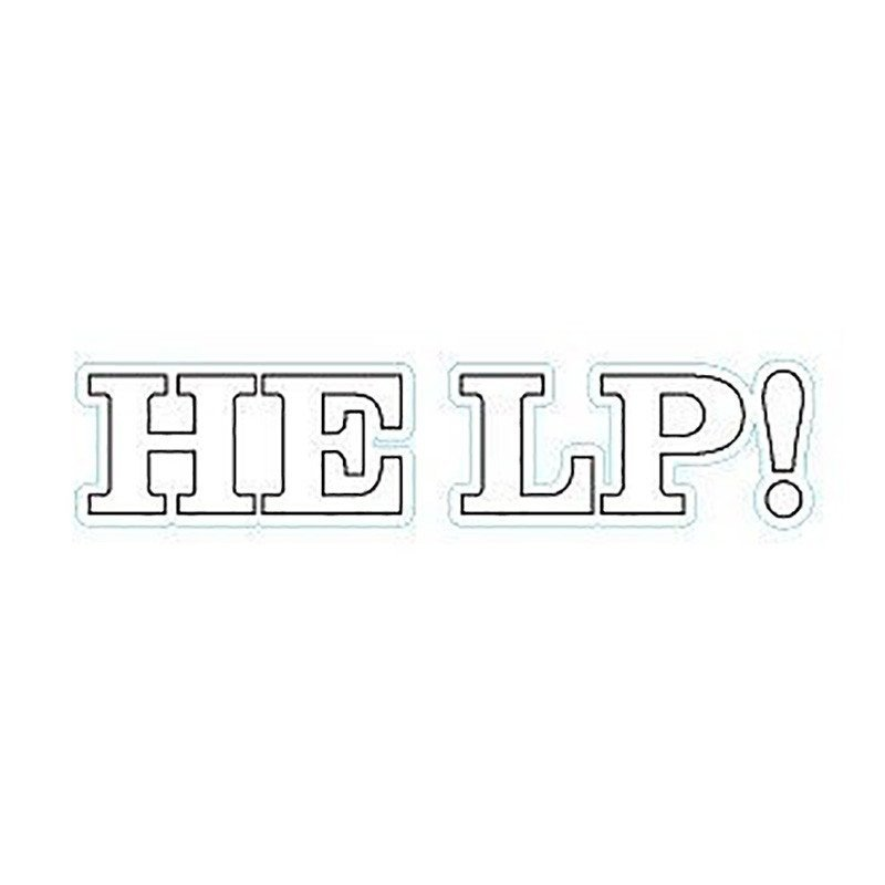 """Autocollant """"Help !"""""""