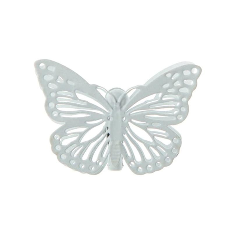 Pinces Papillon blanc (x4)