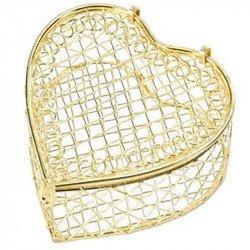 Bonbonnières cœur (x2) - Or
