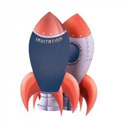 Invitations Fusée & Astronaute (x8)