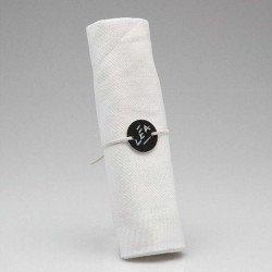 Marque-places ronds de serviette (x6)