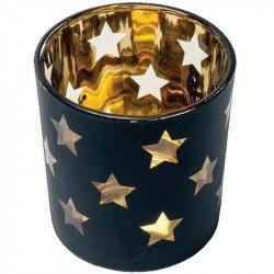 Photophore étoiles noir et doré