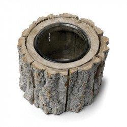 Bougeoir/vase rondin de bois