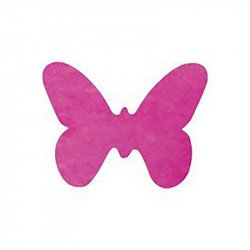 Confettis papillons (x12) - Fuchsia