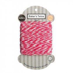 Cordelette coton bicolore - Rouge
