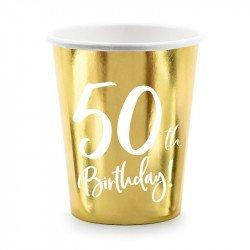 """Gobelets dorés """"50 ans"""" (x20)"""