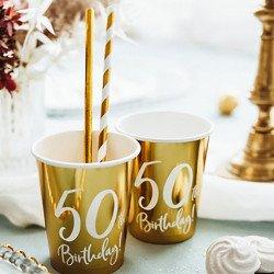 """6 Gobelets dorés """"50 ans"""""""
