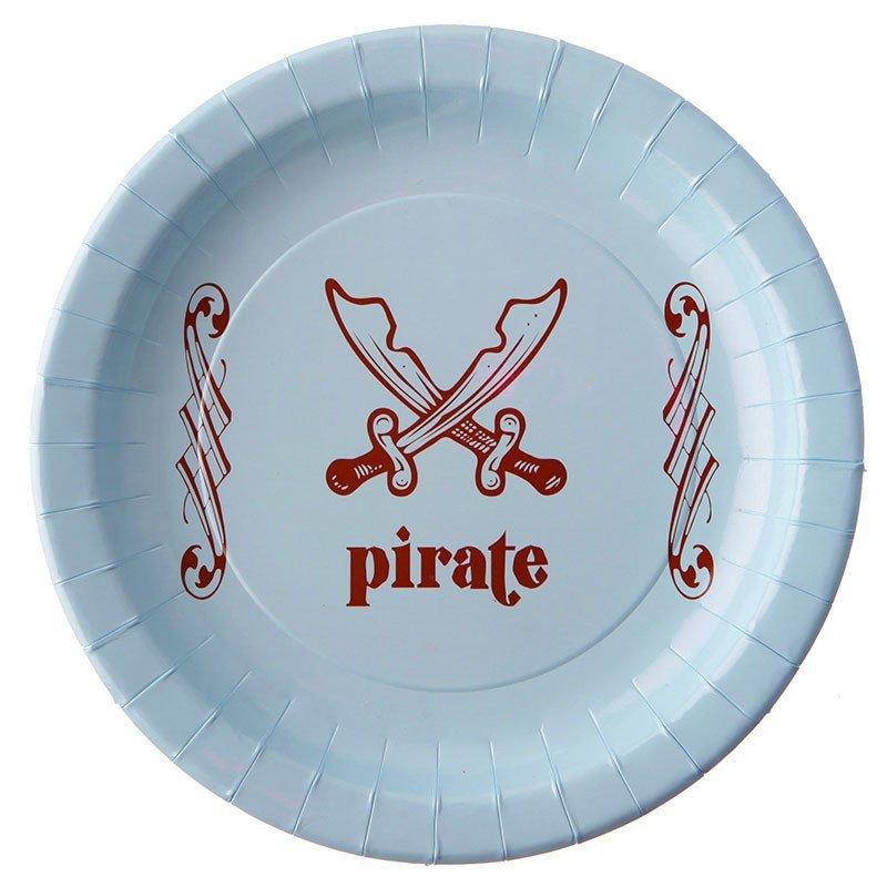 Assiettes pirate bleu (x6)