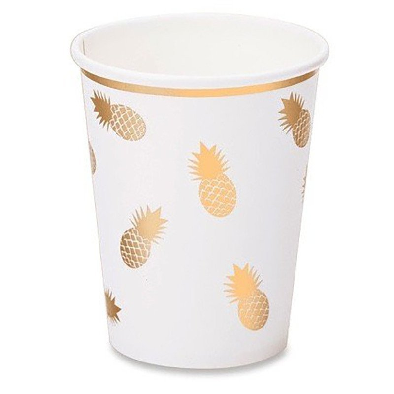 "Gobelets ""Ananas Or"" (x8)"
