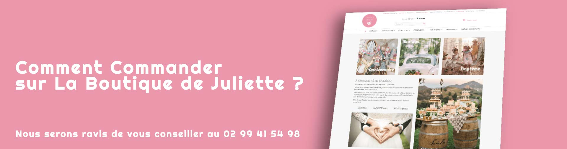 Comment commander sur la boutique de juliette