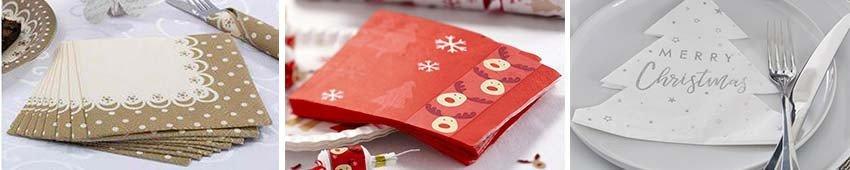 Serviettes de Noël