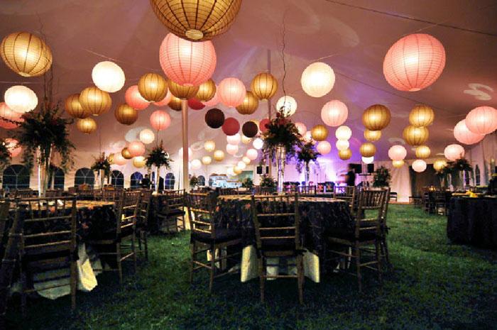 lanternes-rose-blanc-doré