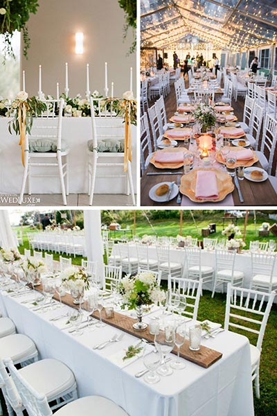 Les chaises Chiavari blanches