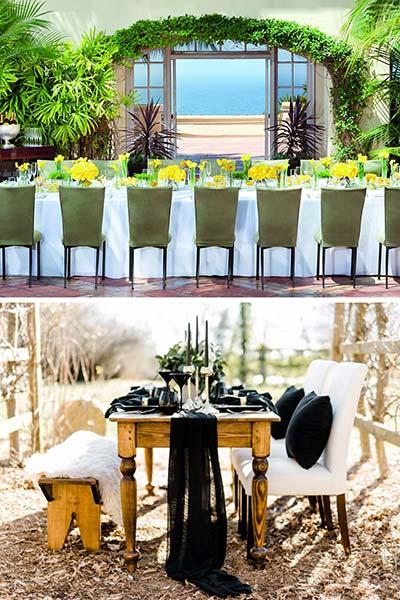 Les chaises entièrement tapissées de couleur pour une anniversaire tendance