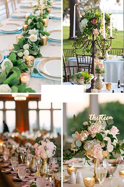 Décoration de table champêtre romantique chic