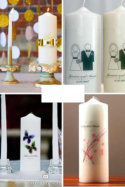 La bougie personnalisée en décoration de table