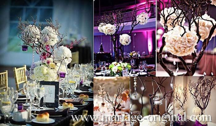 centre tablemariage boule fleurs geantes couleurs blanches