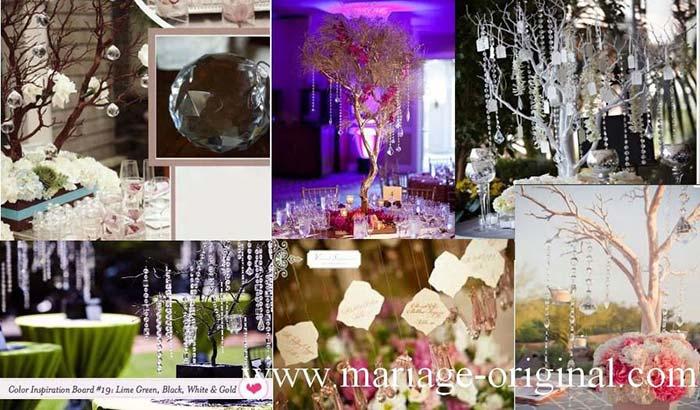 Centre de table faux diamants, decor mariage theme diamant, luxe, strass et paillettes