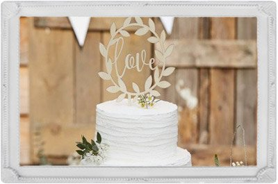 illustration candy bar cake topper